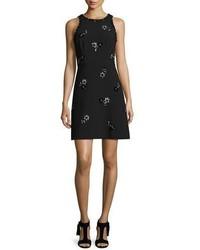 Vestido recto con adornos negro de Kate Spade