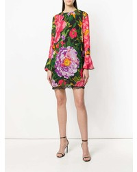 Vestido recto con print de flores en multicolor de Twin-Set