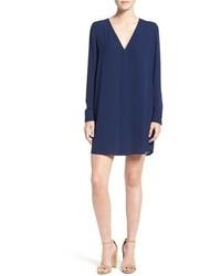 Vestido recto con recorte azul marino de Rebecca Minkoff