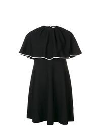 Vestido recto con volante negro de Valentino