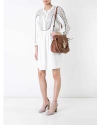 Vestido recto de encaje blanco de Chloé