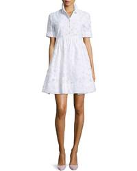 Vestido recto de encaje blanco de Kate Spade