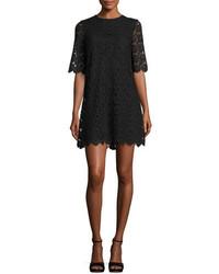 Vestido recto de encaje negro de Kate Spade
