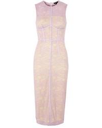 Vestido recto de encaje violeta claro