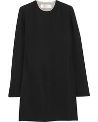 Vestido recto de seda negro de Victoria Beckham