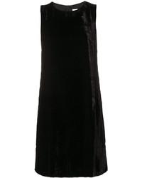 Vestido recto de terciopelo negro de M Missoni