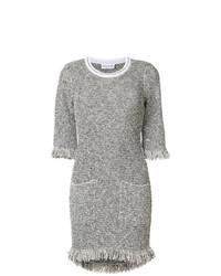 Vestido recto de tweed gris de Sonia Rykiel