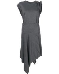 Vestido recto en gris oscuro de Isabel Marant