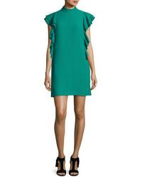 Vestido recto en verde azulado de Kate Spade