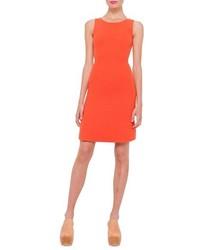 Vestido recto naranja de Akris
