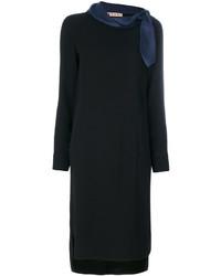 Vestido recto negro de Marni