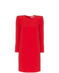 Vestido recto rojo de Givenchy