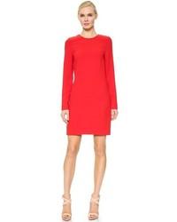 Vestido recto rojo de Victoria Beckham