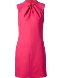 Vestido recto rosa de Saint Laurent