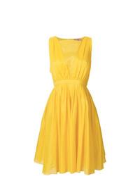 Vestido skater amarillo de N°21