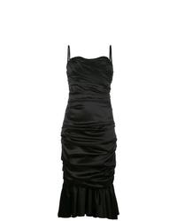 Vestido tubo con volante negro de Dolce & Gabbana