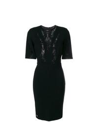 Vestido tubo de encaje negro de Philipp Plein