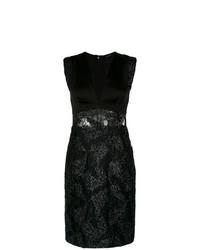 Vestido tubo de encaje negro de Tufi Duek