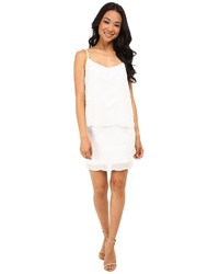 Vestido tubo de gasa blanco