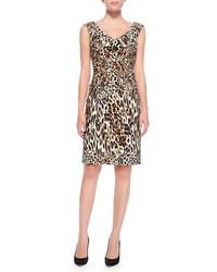 Vestido tubo de leopardo marrón claro