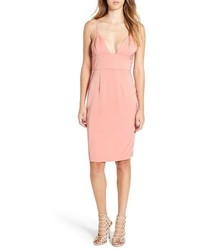 Vestido tubo de satén rosado de NBD