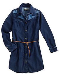 Vestido vaquero azul marino