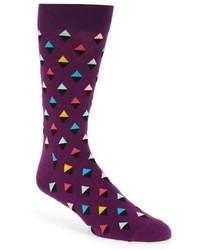 Violet Argyle Socks