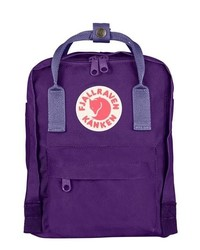 FjallRaven Mini Kanken Water Resistant Backpack Purple