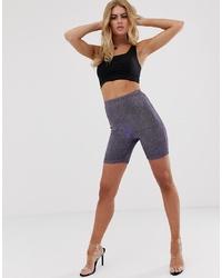 ASOS DESIGN Co Ord Legging Shorts In Glitter