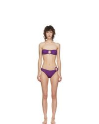 Oseree Purple Lurex Less Ring Bikini