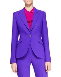 Escada Long Sleeve Wool Blazer Purple