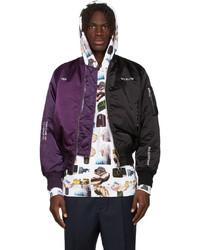 Études Purple Black Martine Syms Edition Horizon Bicolour Bomber Jacket