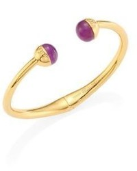 Tory Burch Logo Amethyst Hinge Bangle