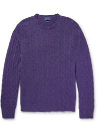 Violet Cable Sweater