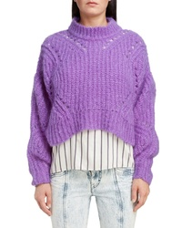 Isabel Marant Mohair Wool Blend Crop Sweater