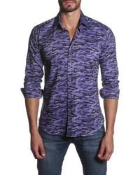 Jared Lang Trim Fit Long Sleeve Camo Sport Shirt