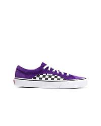 Violet Canvas Low Top Sneakers