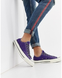 Converse Chuck Taylor 70 Ox Trainers In Purple 162368c