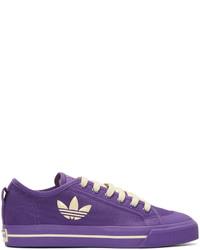 Raf Simons Purple Adidas Edition Matrix Spirit Low Sneakers