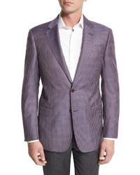 Armani Collezioni G Line Mini Check Sport Jacket Purple
