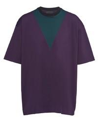 Prada Chevron Print T Shirt