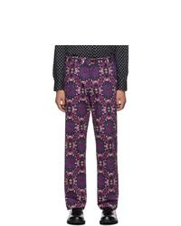 Dries Van Noten Purple Pecan Trousers