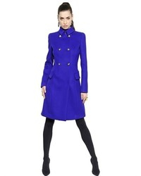 Versace Double Wool Blend Coat