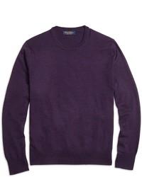 Brooks brothers saxxon wool crewneck sweater medium 575491