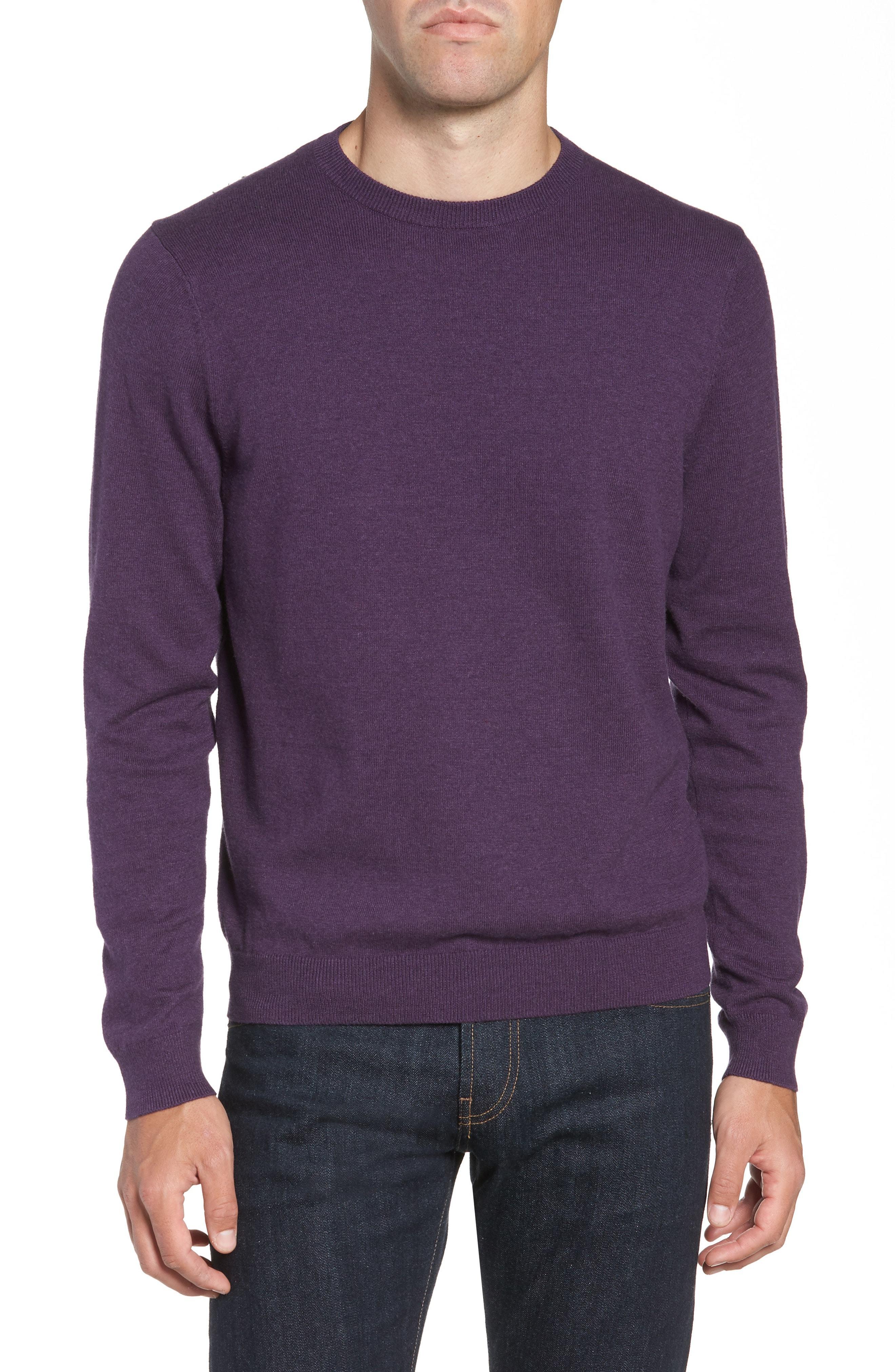 c363f160f5fc ... Nordstrom Men s Shop Cotton Cashmere Crewneck Sweater