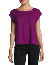 Eileen Fisher Hempcotton Twist Cropped Top
