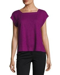 Eileen Fisher Hempcotton Twist Cropped Top Plus Size