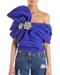 Moschino Cropped One Shoulder Top