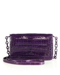 Nancy Gonzalez Crocodile Wallet On A Chain Crossbody Bag