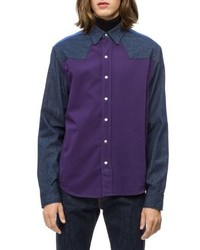 4623a7f626 Calvin Klein Jeans Calvin Klein Colorblock Western Shirt